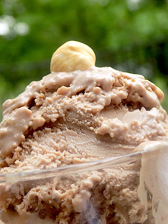 Homemade Bacio Gelato (without an ice cream maker)