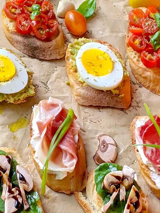The Colorful World of Bruschetta