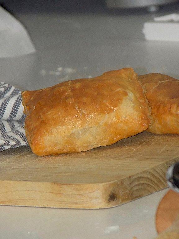 Sfogliatelle with meat- Sicilian Tavola Calda