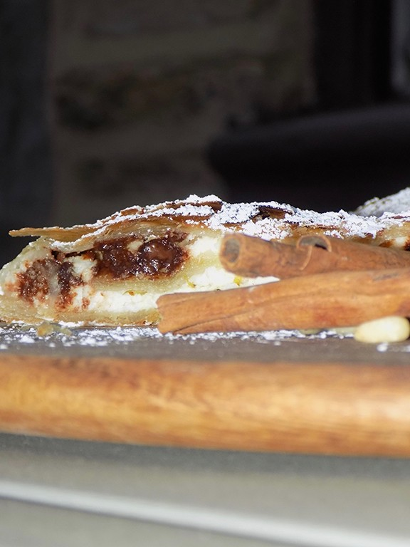 Chocolate and Ricotta Strudel