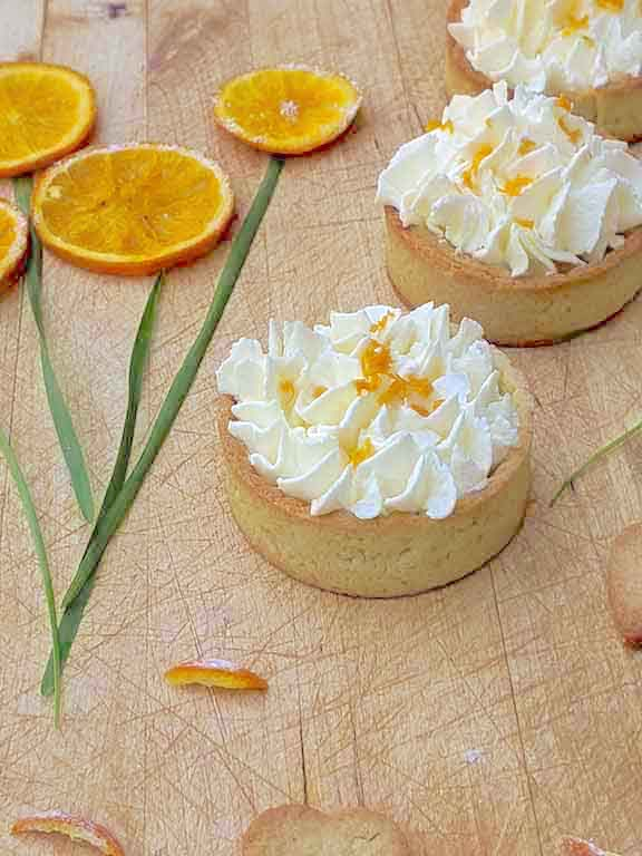 Delicious Sable Tarts with Orange Mascarpone Cream