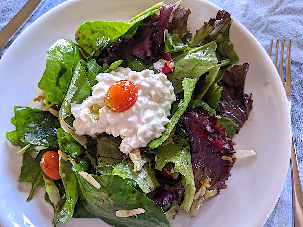 Mix Salad with Cottage Cheese