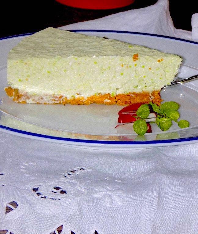 Savory Peas Cheesecake