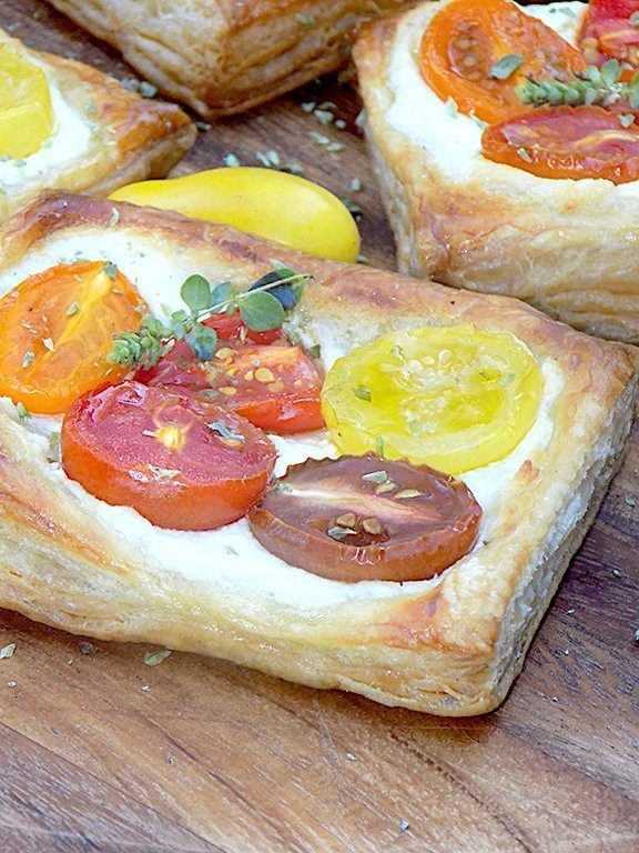 Sfogliatine with Ricotta and Cherry Tomatoes