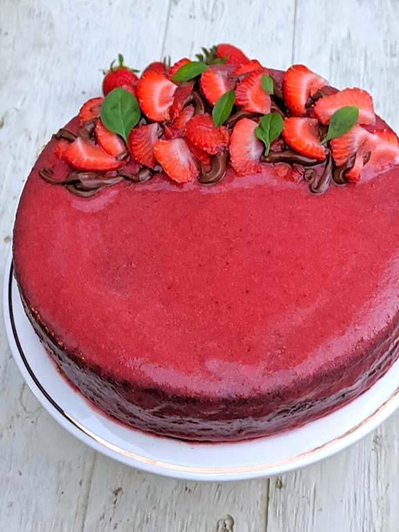 Nutella, Strawberry, Chocolate Cake