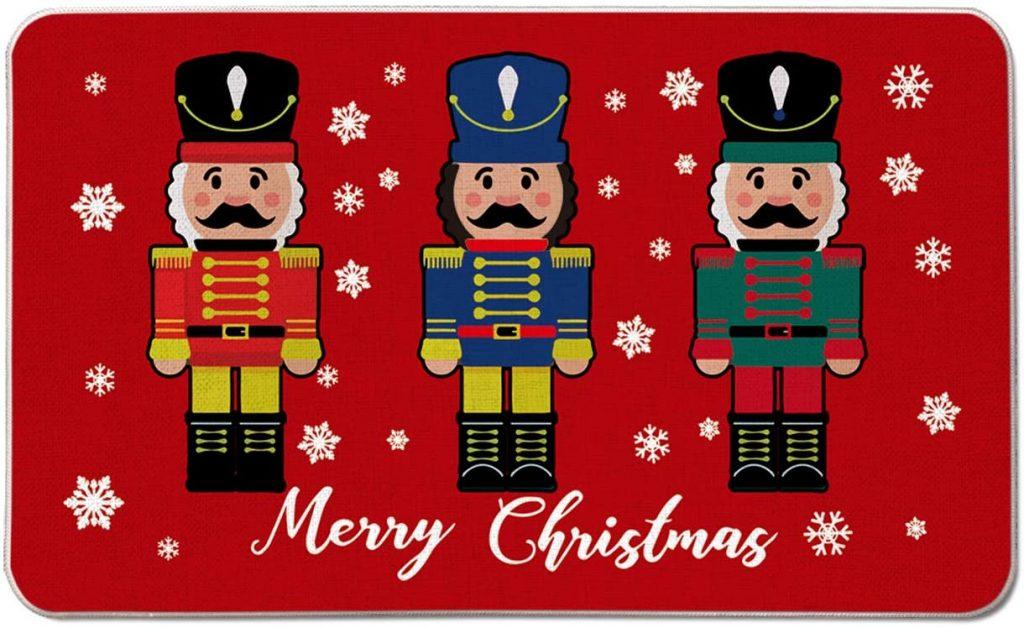 Christmas Nutcrackers Decorative Doormat