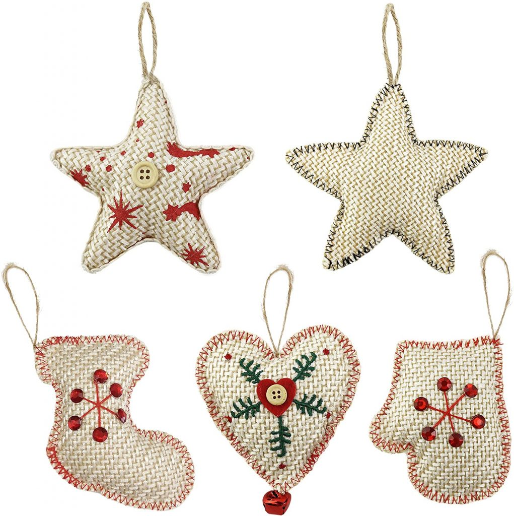 Knitted Christmas decorations: