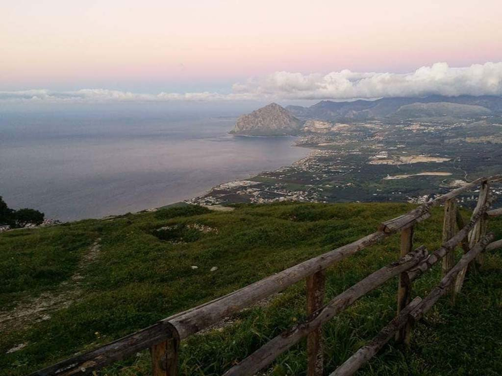 Erice- View of the sea