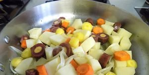 Chicken and Rainbow Carrots