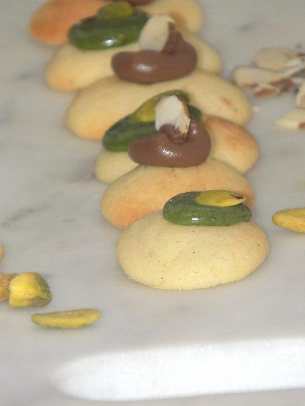 Small Bites with Cocoa Almond and Pistachio Cream