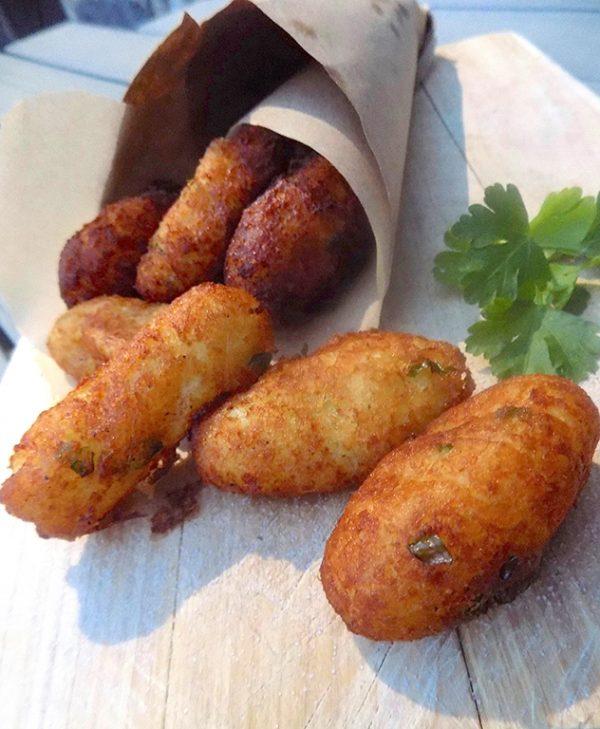 Cazzilli or Crocche`- Sicilian Street Food