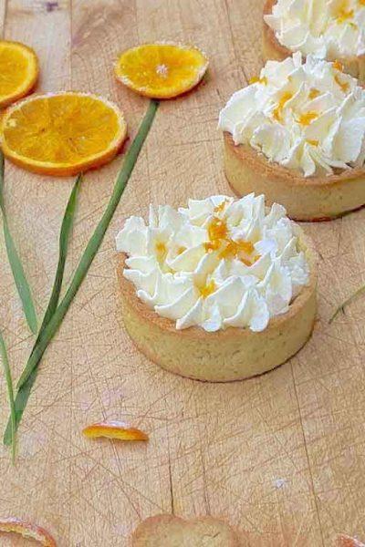 Delicious Sable Tarts with Orange Mascarpone Cream