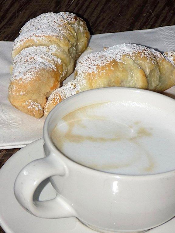 Italian Coffee and a Croissant (Caffe`e Cornetto)