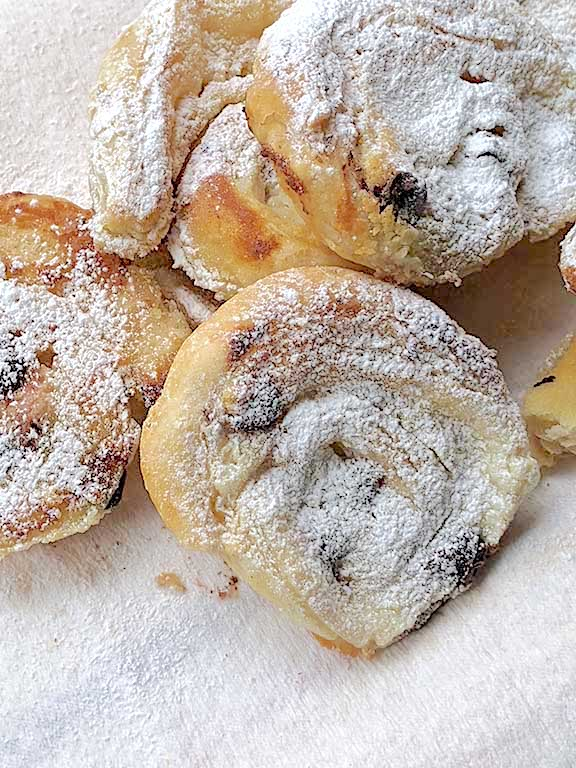Swirls with Mascarpone, Ricotta, and Chocolate Chips