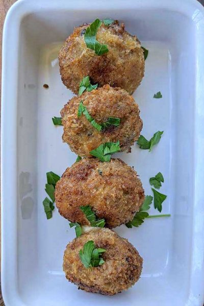 Meatballs Stuffed with Prosciutto and Provola Cheese