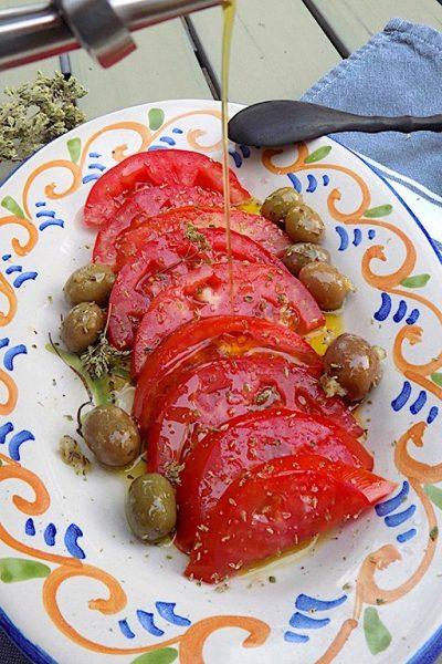 Sicilian Tomato Salad with Oregano and Olives