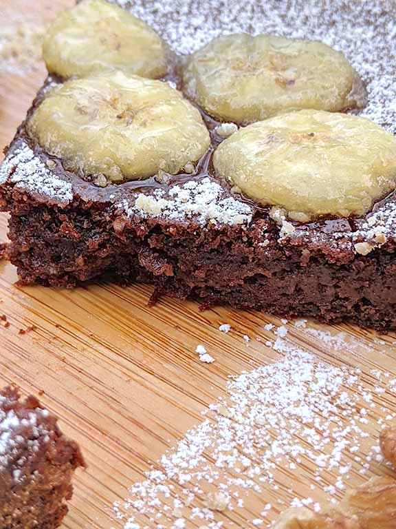 Banana Walnut Cake with Dark Chocolate