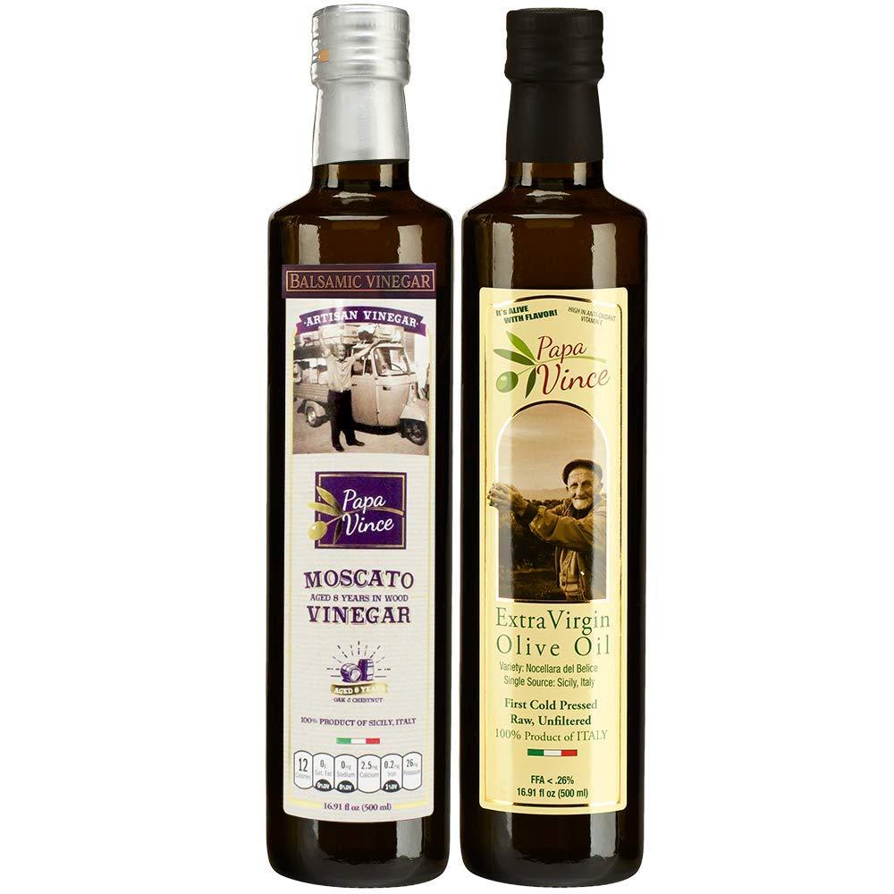 Papa Vince Extra Virgin Olive Oil & Balsamic Set - EVO