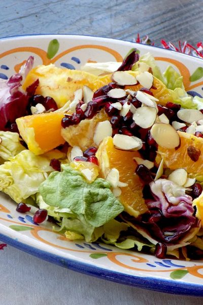 Winter Salad Recipe with Pomegranate, Orange, and Almonds