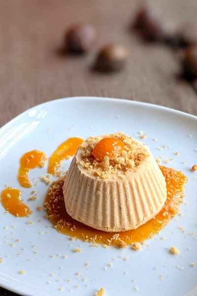 The Best Chestnut Semifreddo with Persimmon Sauce