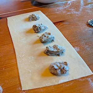 Handmade Ravioli with Mushroom Filling