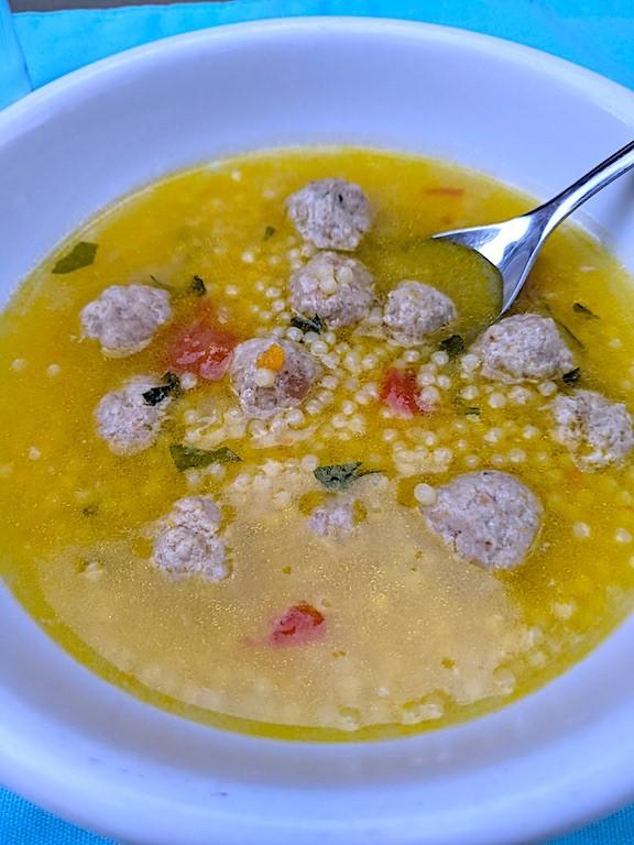 Polpettine  in brodo con pastina (meatballs in soup with pastina)